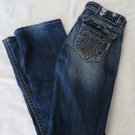 MEK DENIM JEANS JAKARATA 26 x 31.5 Distressed Bootcut Miss Me Handcrafted