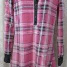 P J SALVAGE SLEEPWEAR Pajamas Pink PLAID Fleece   S-P Polyester GOWN NIGHT SHIRT
