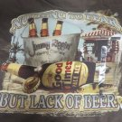 NEWPORT BLUE TEE SHIRT BROWN XL Nothing to Fear But Lack Of Beer  NWT