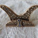 EDGAR BEREBI PLACE CARD HOLDER Empress Blue Sapphire Wedding Bridal SET/6 WINE