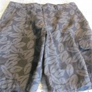 DICKIE SHORTS Floral Relaxed Ft Worth Gray Cargo 32 NEW