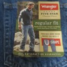 WRANGLER JEANS FIVE STAR PREMIUM DENIM 33 X 30 Regular NWT