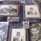 Designs Needle  WINDOW WOLFS COUNTED CROSS STITCH 3 KITS 5211 5411 5404