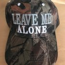 """BASE BALL CAPS Camouflage 'LEAVE ME ALONE"""" Embroidered Hunting Golf Fishing NEW"""