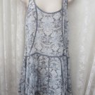 INTIMATELY FREE PEOPLE Sheer Boho Night Gown Dress Slip Cover Up Lace MED NEW