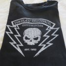HARLEY DAVIDSON TEE BLACK XL 2004 SANTA MARIA Short Sleeve GRAPHIC