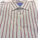 TOMMY BAHAMA DRESS SHIRT Light Blue Red Stripe XL/TG Cotton NEW