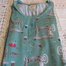 MUNKI MUNKI NITE-NITE  Gown Blue Green Sewing Thread Scissors Needle NEW SMALL