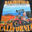 HARLEY DAVIDSON TEE BLACK XL 2007 Bakersfield Calif Pin Up Short Sleeve GRAPHIC