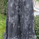 SULTRY TOUCH PLAZIO PANTS Skirt Tie Dye LINEN O S/M Boho Hippie Beach COOL GRAY