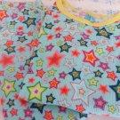 VICTORIA SECRETS SLEEPWEAR PJ's Cotton XS STARS BLUE MULTI ADORABLE Henley Therm