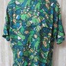 Giorgio DANIELI Shirt VINTAGE Dress Casual Retro MEDIUM Blue Greens