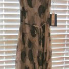 Simply Vera Wang DRESS Contemp Clean Slate NWT asymmetrical hem Silver Grey