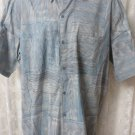 TORI RICHARD Shirt Button Front Cotton LARGE TALL Hawaiian Camp Shirt BLUE