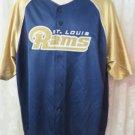 NFL SAINT LOUIS RAMS  XLBlue Gold Rare Button Front Jersey