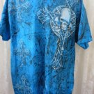 NEW BLUE AFFLICTION MMA ELITE Skull Cross TEE Shirt Bike Motor Cross Skull LARGE