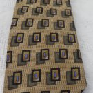 FERREL REED FOR NORDSTROM TIE Gold Black Blue Silk Handmade