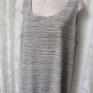 CHICO'S EASY WEAR blouse tee Size 3 Stripe XL/16 NWOT Tank