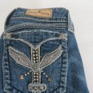 SANG REAL JEANS   MISS ME MEK 27 X 32.5 Low Boot Studded Wing