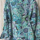 Giorgio DANIELI Shirt VINTAGE Dress Casual Retro Greens Blues Floral