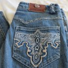 ANTIK DENIM JEANS SIZE 28 X 31.5  POCKETS Flare Western Cut SADDLE Back