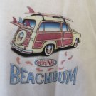 BEACH BUM Tee Shirt Woody Original White XL Surf Beach