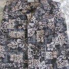 GO BAREFOOT SHIRT Hawaiian Tradition  XL Black Reverse Print Button Front POCKET