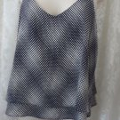 VERONICA M LOS ANGELES Blouse TANK TOP Cami  NEW SMALL BLUE WHITE Career Polka