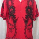 DRAGONFLY SHIRT DUAL RED DRAGON Double Sided Print SMALL Rock Roll Bowl