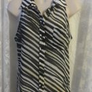 GUESS BLOUSE Animal Print Sheer NEW Small