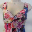 GUESS LOS ANGELES Dress Floral Multi Sexy Body Con Pin up Style Sun Dress