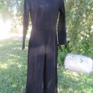 RIPLEY RADAR BLACK CATSUIT JUMPSUIT 6/8/10 WIDE LEG SEXY Discontinued