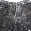 Brandy Melville John Galt Black Distressed Jeans Shorts Size 26 SEXY Button Fly