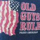 OLD GUYS RULE TEE Blue Proud American Flag Patriotic Flag Stars Stripes