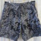 TOMMY BAHAMA  Swim Trunks Bathing Suit Shorts Men Size Medium XL BALACK GREY