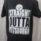 STEELERS TEE SHIRT Straight outta Pittsburgh NEW MEDIUM Football