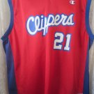 Clippers Darius Miles #21 NBA Basketball 48 Champion Jersey AUTHENTIC SIGNED XL
