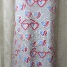 MUNKI MUNKI NITE NITE Night gown Sleepwear Red White Blue Glasses NEW M Flag