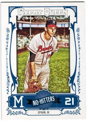 2013 Topps Gypsy Queen No Hitters #WS Warren Spahn