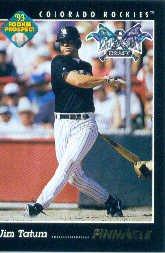 1993 Pinnacle 587 Jim Tatum RC