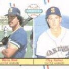 1988 Fleer 649 Mario Diaz/Clay Parker RC