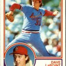 1983 Topps 438 Dave LaPoint RC