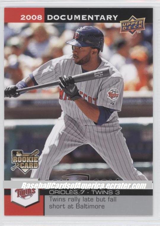 2008 Upper Deck Documentary 4489 Denard Span (RC)