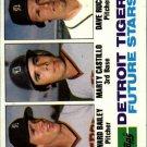 1982 Topps 261 Howard Bailey RC/Marty Castillo RC/Dave Rucker RC
