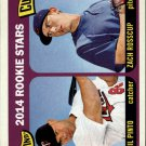 2014 Topps Heritage #201 Zach Rosscup RC/Josmil Pinto RC