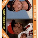 2015 Topps Heritage 401 Hector Neris RC/Chris Heston RC