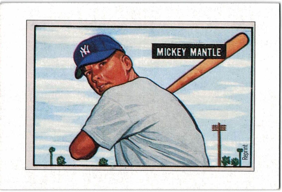 1989 Bowman Reprint Inserts 5 Mickey Mantle 51