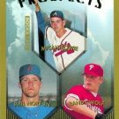 1999 Topps 428 Micah Bowie/Phil Norton RC/Randy Wolf RC