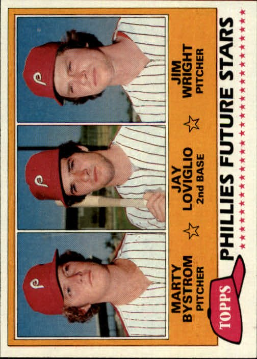 1981 Topps 526 Marty Bystrom RC/Jay Loviglio RC/Jim Wright