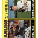 2016 Topps Heritage 169 Brian Ellington RC/Chris Reed RC